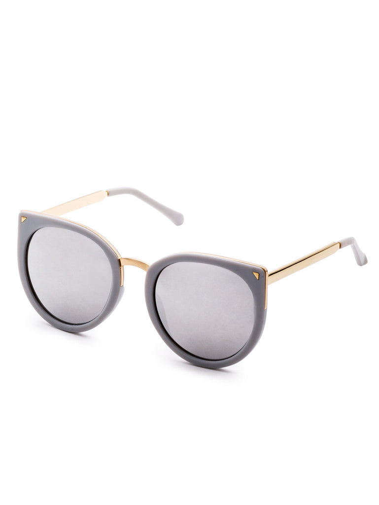 Metal Trim  Cat Eye Sunglasses RZX