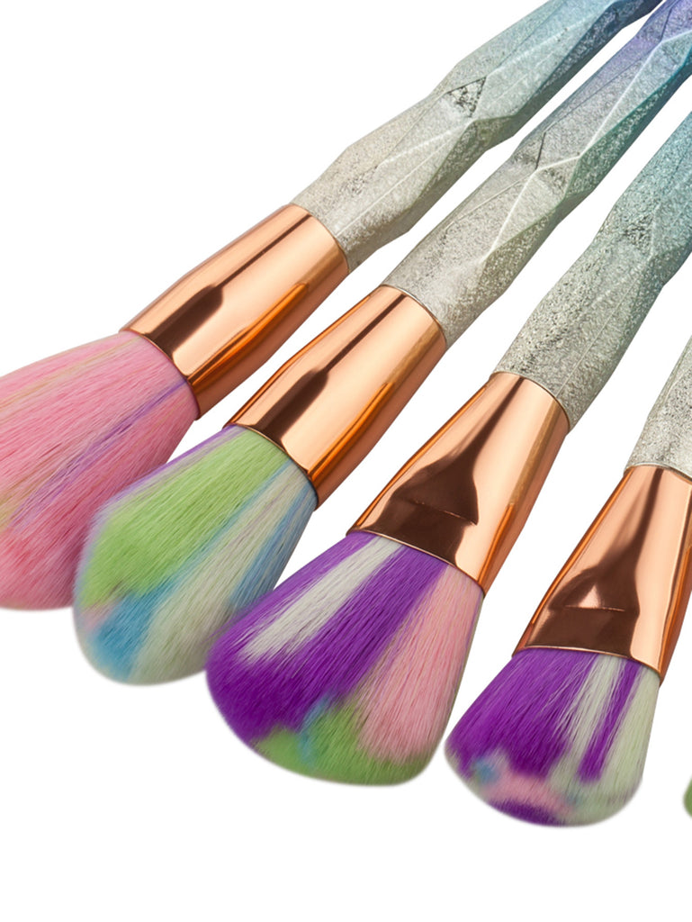 RZX Multicolor Bristle Makeup Brush Set