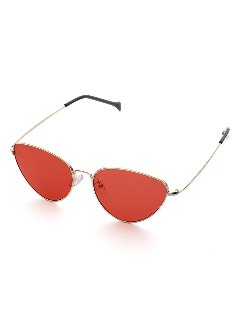 RZX Oval Shaped Flat Lens Sunglasses