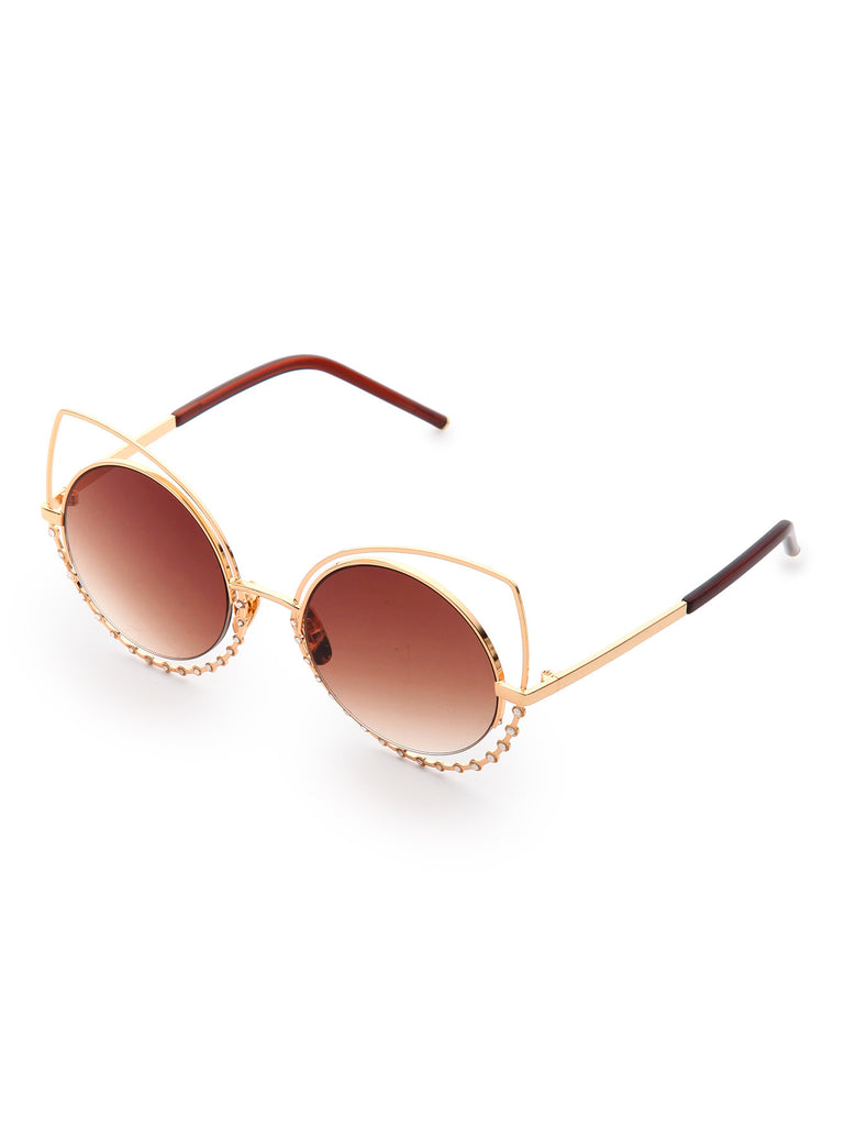 Cat Eye Round Lens Sunglasses RZX