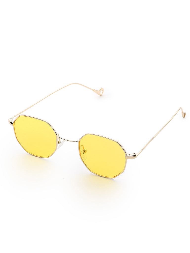 Polygon Flat Lens Sunglasses