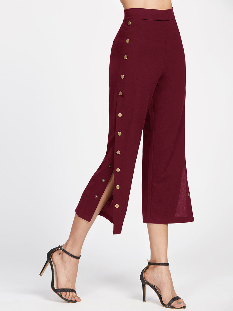 Metal Button Side Pants