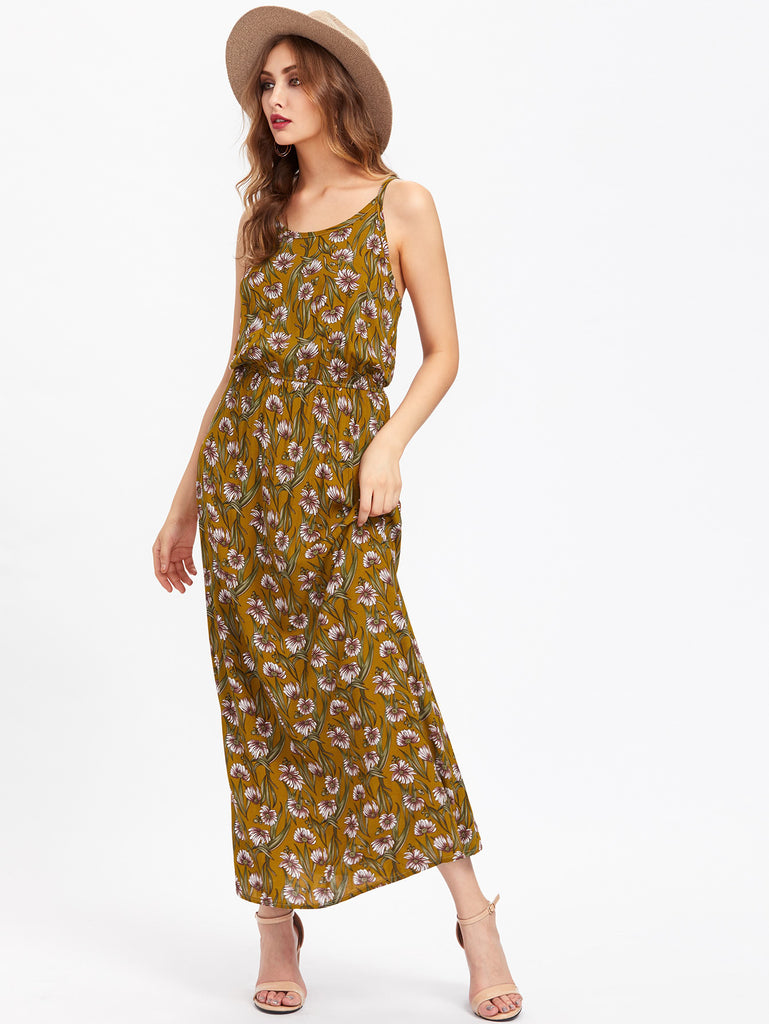 Allover Calico Print Cami Dress
