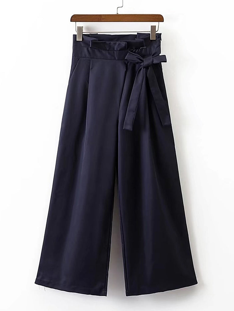 RZX Wide Leg Pants With Bow Detail