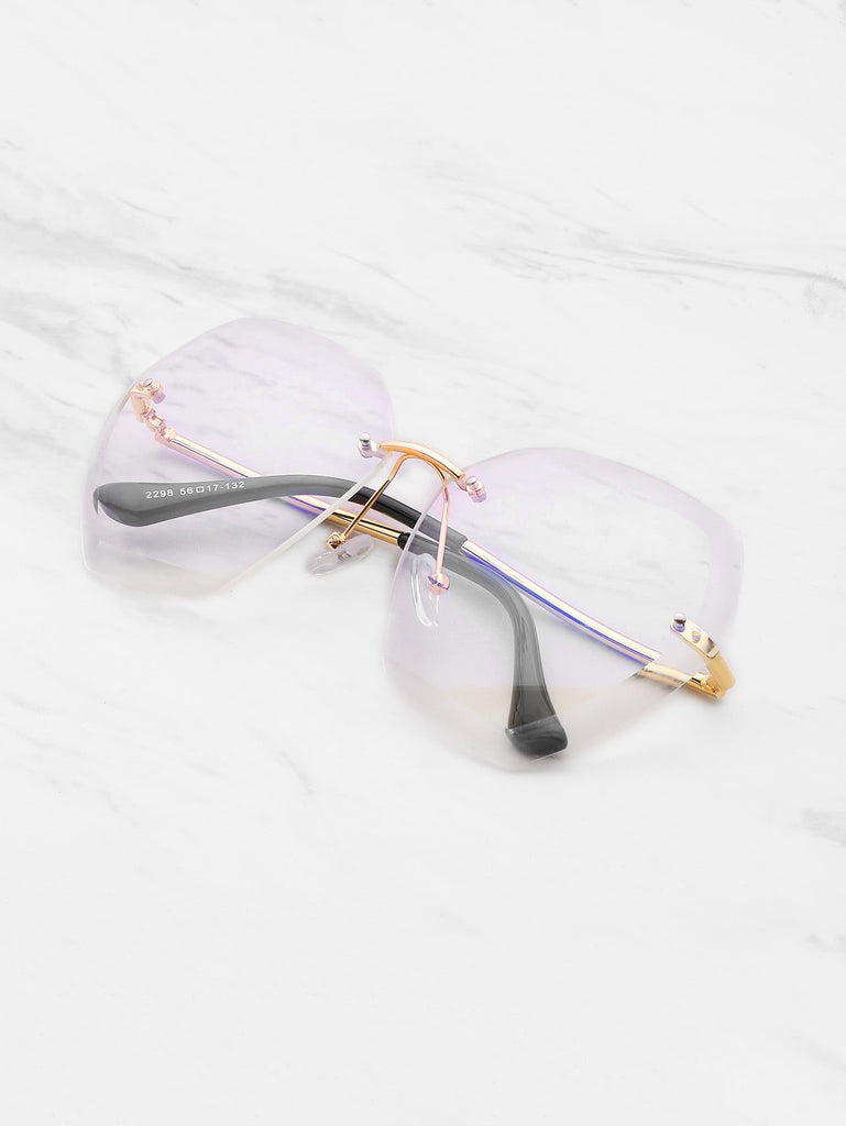 RZX Rimless Oversized Sunglasses