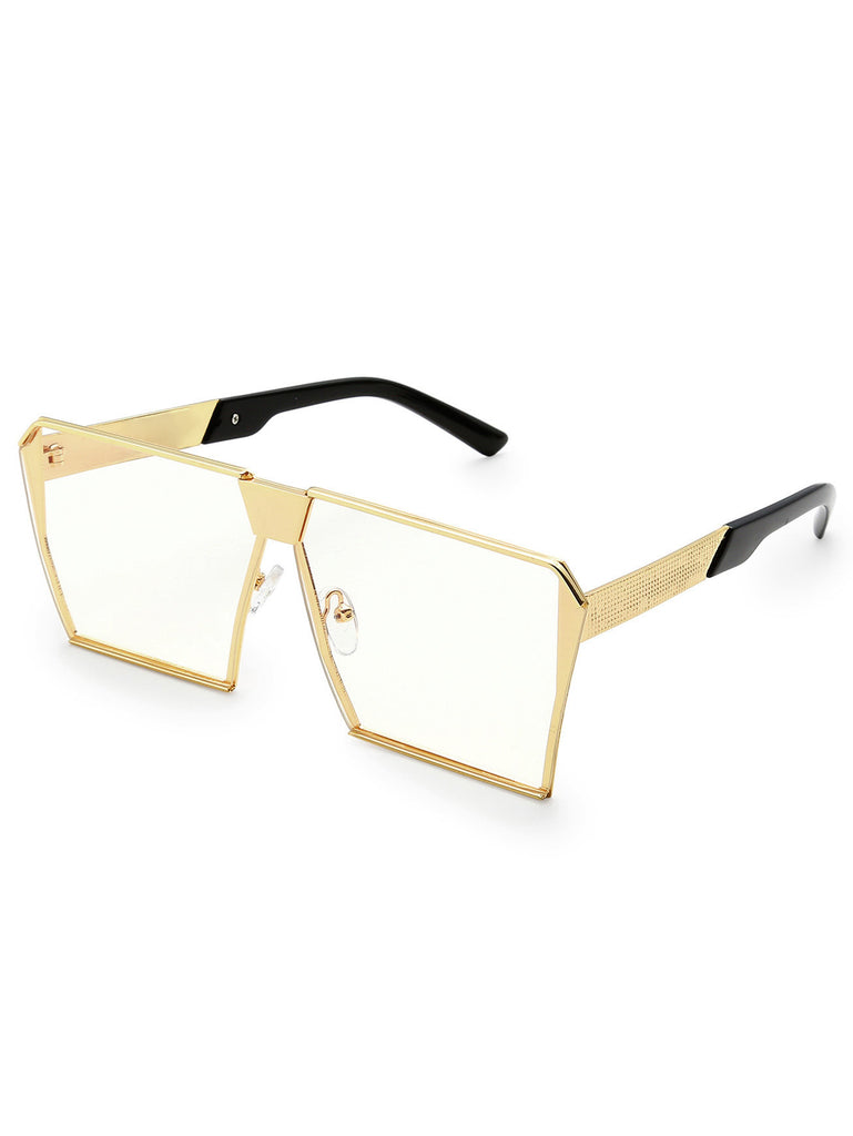 RZX Square Lens Oversized Glasses