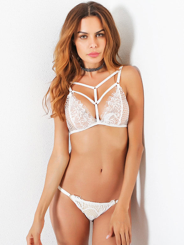 Caged Front Lace Bralet