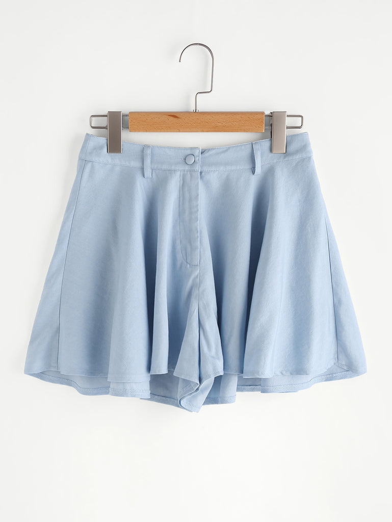 Chambray Swing Shorts