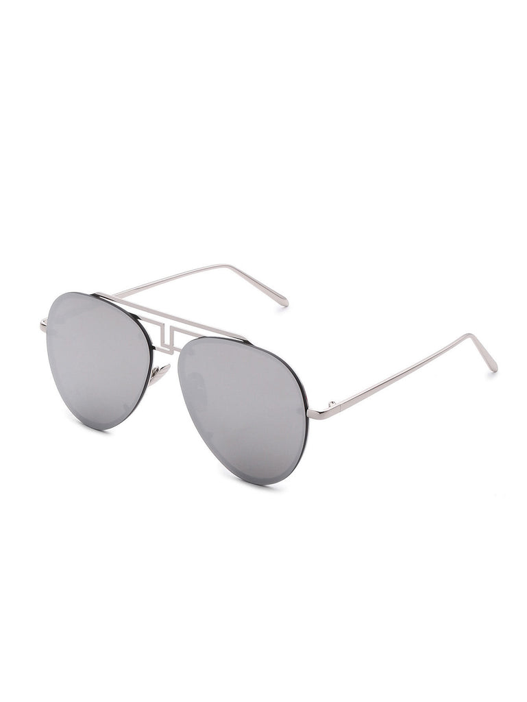 RZX Asymmetrical Top Bar Rimless Sunglasses
