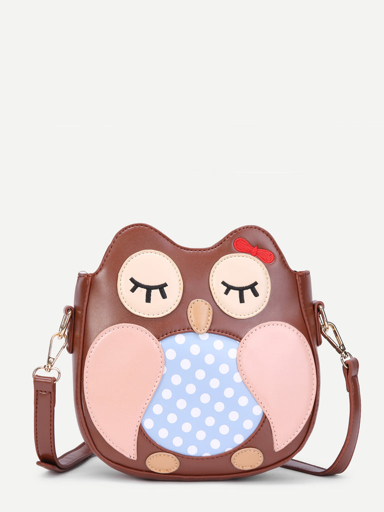 Cartoon Pattern Ear Design PU Shoulder Bag