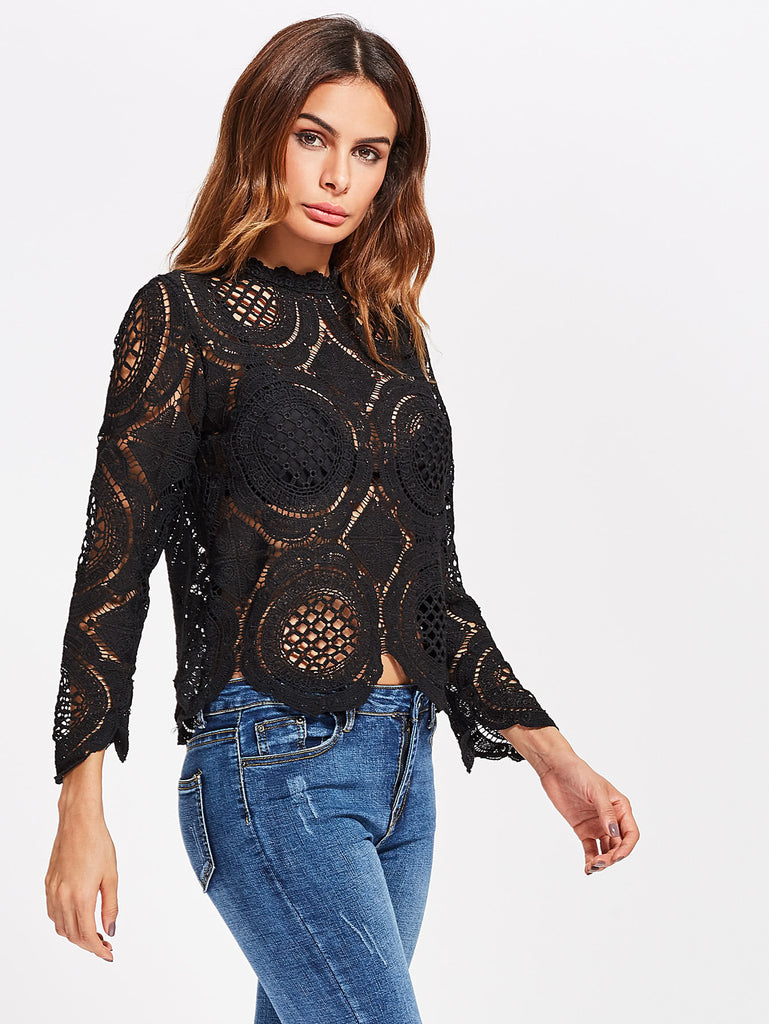 Crochet Lace Hollow Out Top
