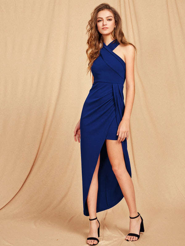 RXZ Criss Cross Halterneck Maxi Dress