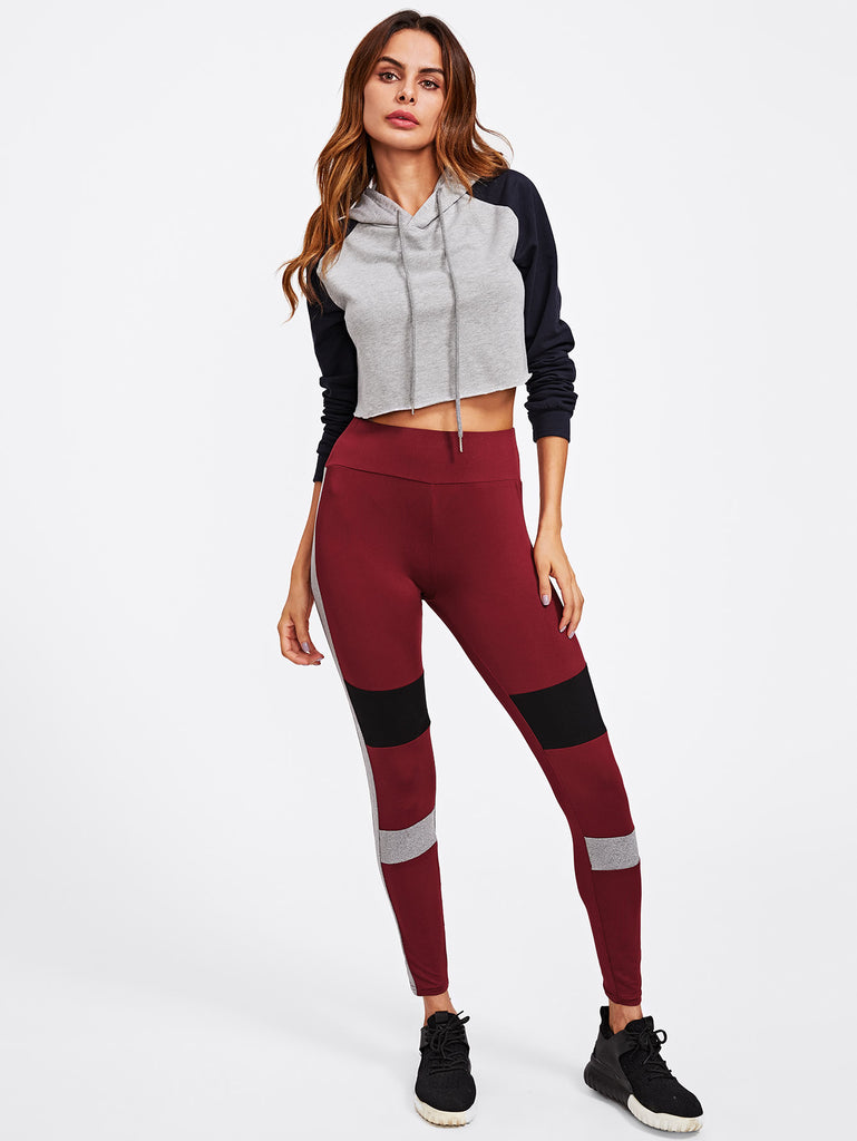 RZX Color Block Cut And Sew Leggings