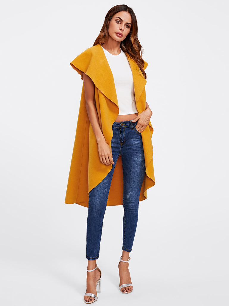 RZX Oversized Shawl Collar Vest