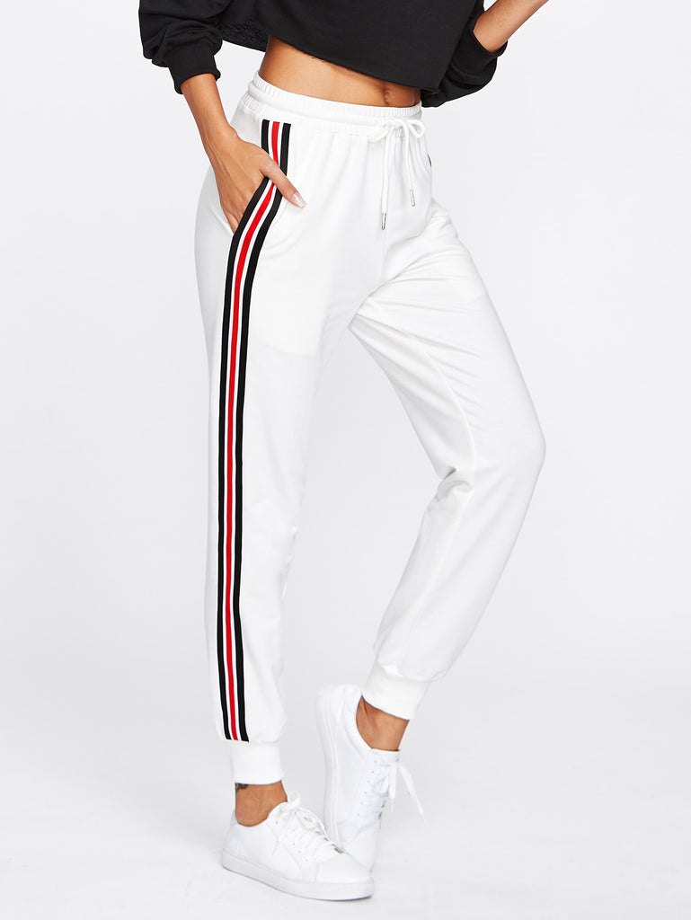 RZX Striped Tape Side Drawstring Sweatpants