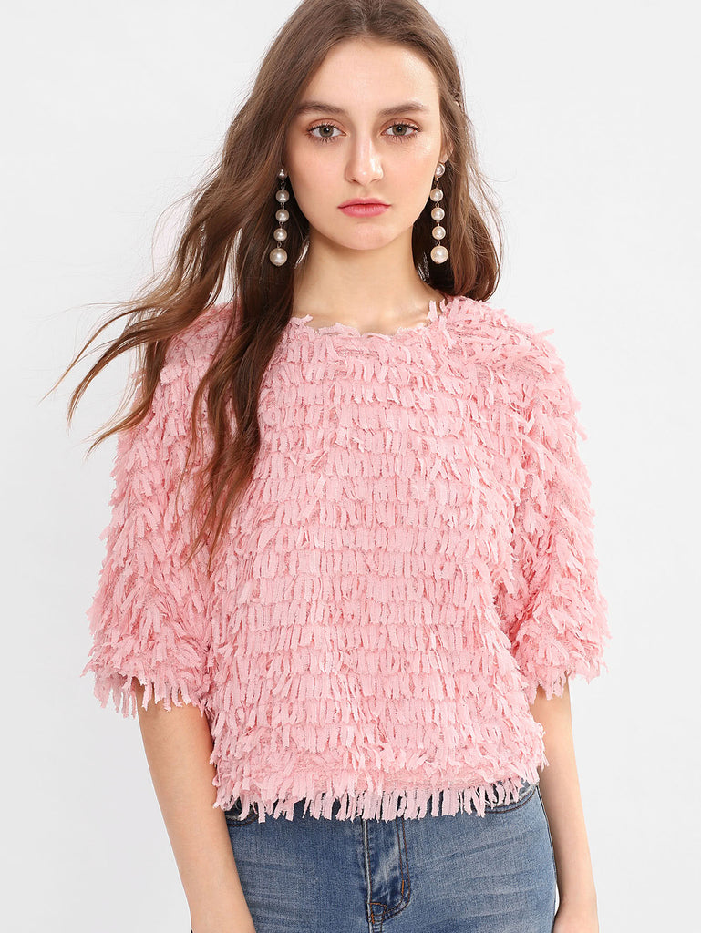 RZX Allover Fringe Top