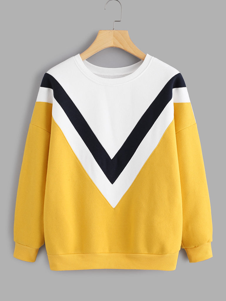 RZX Drop Shoulder Chevron Panel Sweatshirt