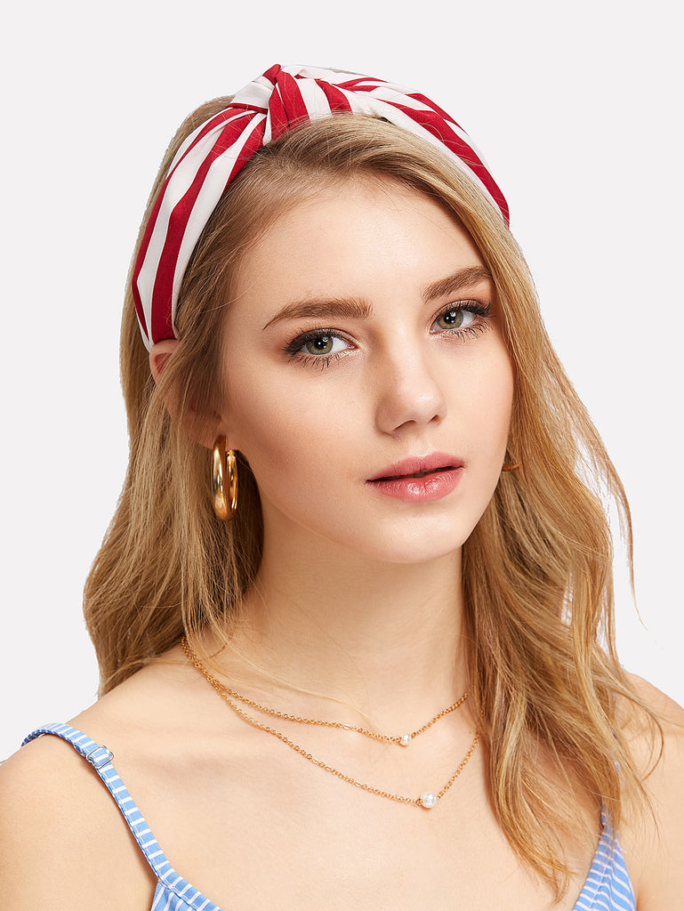 Striped Knot Headband