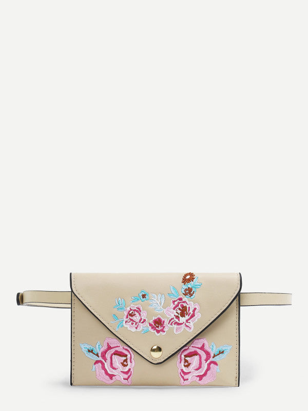 RZX Flower Pattern PU Bum Bag
