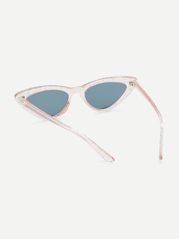 Glitter Frame Cat Eye Sunglasses