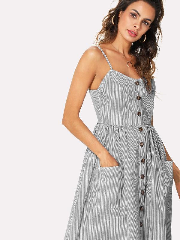 Button Front Cami Dress