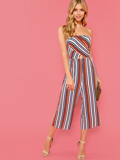 a8225c0f39da Cut And Sew Cut Out Striped Tube Jumpsuit – The Style Syndrome