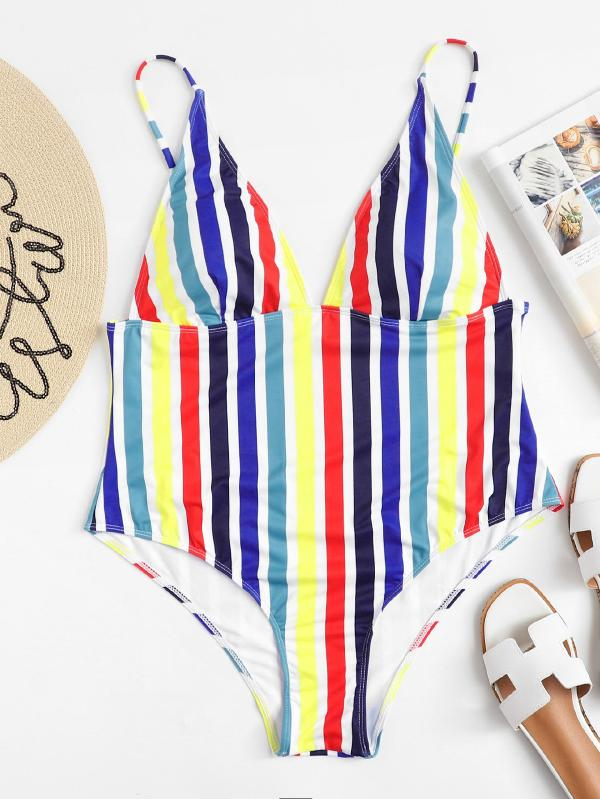 Colorful Stripe Swimsuit