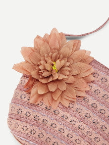 Girls Flower Decorated Crochet Bag
