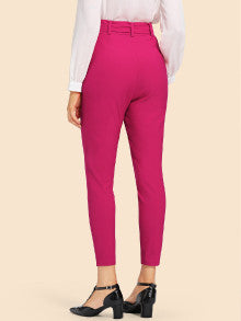 Belted Tapered Leggings