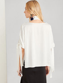 Knot Sleeve Belted Top