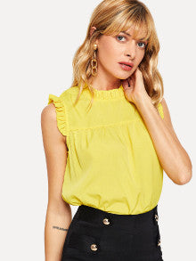 Frill Trim Shell Top