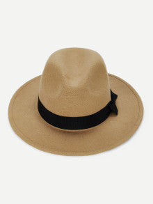 Bow Decorated Panama Hat