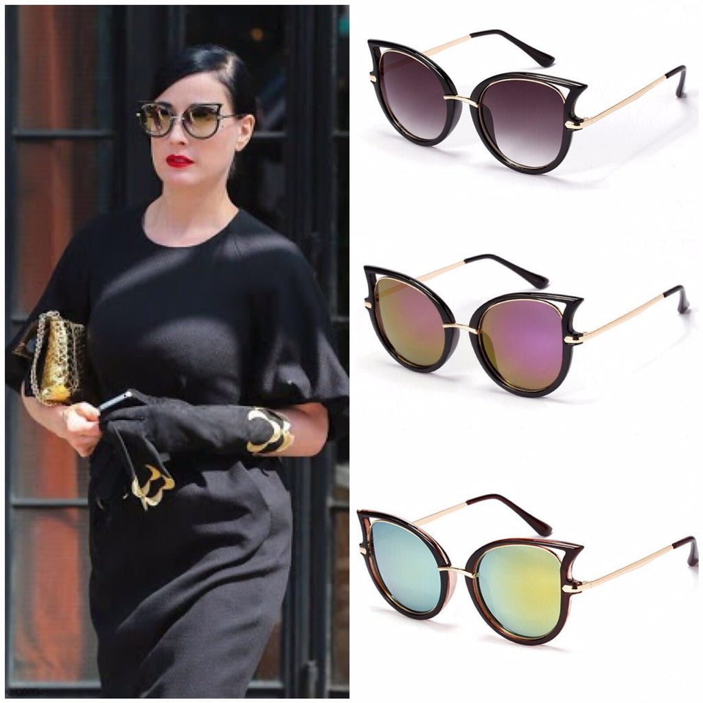 Multicolor Cat Eye Sungasses - The Style Syndrome