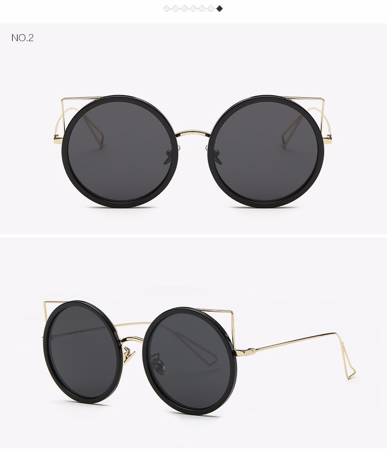 Copper Frame Cat Eye Sun Glasses - The Style Syndrome  - 4