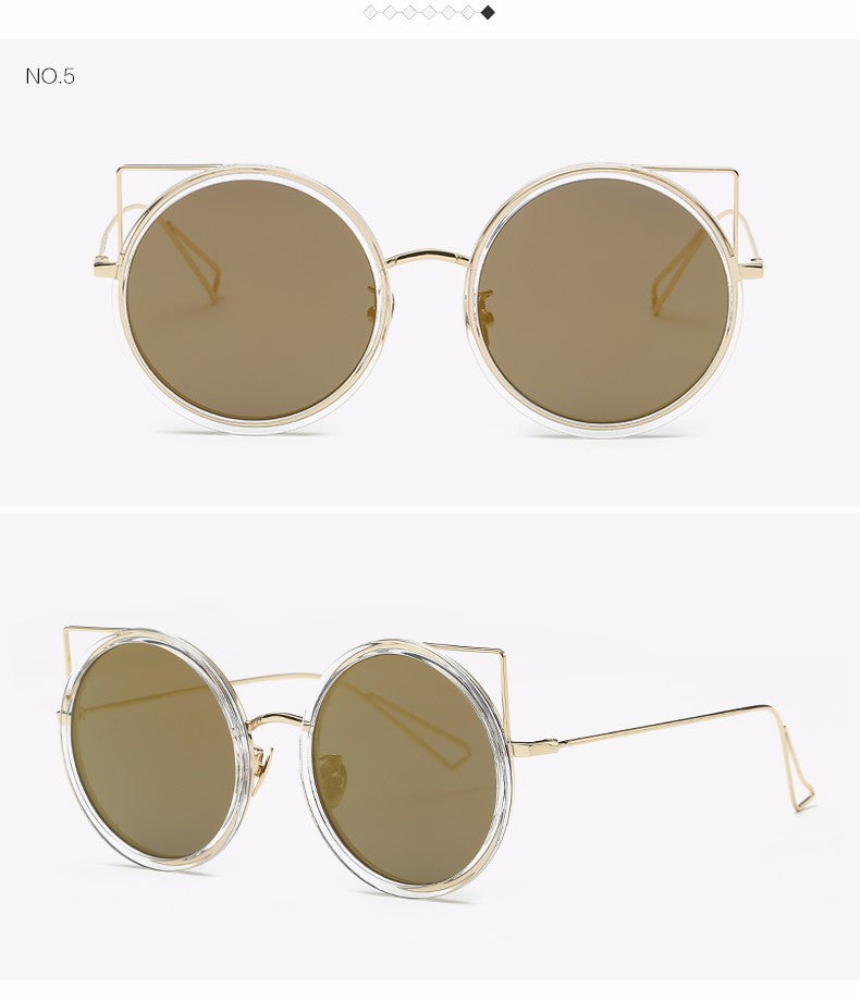 Copper Frame Cat Eye Sun Glasses - The Style Syndrome  - 7