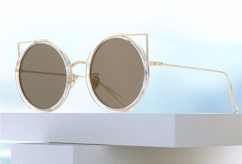 Copper Frame Cat Eye Sun Glasses - The Style Syndrome  - 1