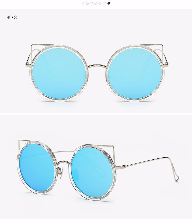Copper Frame Cat Eye Sun Glasses - The Style Syndrome  - 5