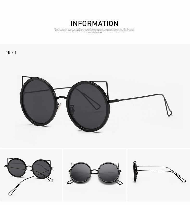 Copper Frame Cat Eye Sun Glasses - The Style Syndrome  - 3