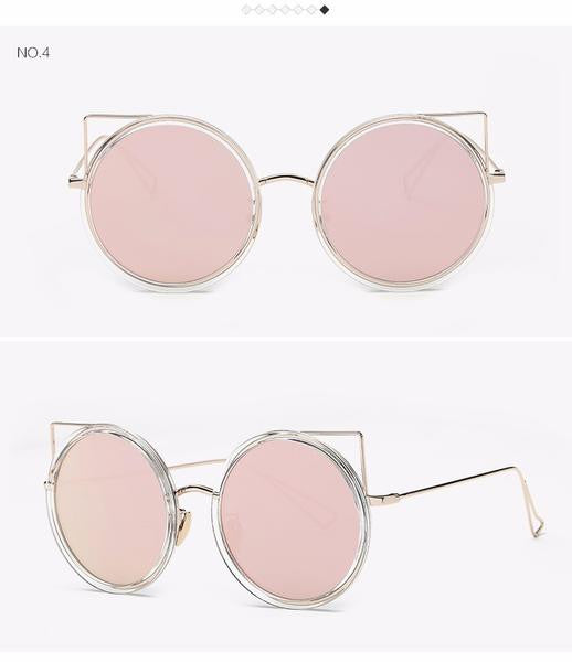 Copper Frame Cat Eye Sun Glasses RZX