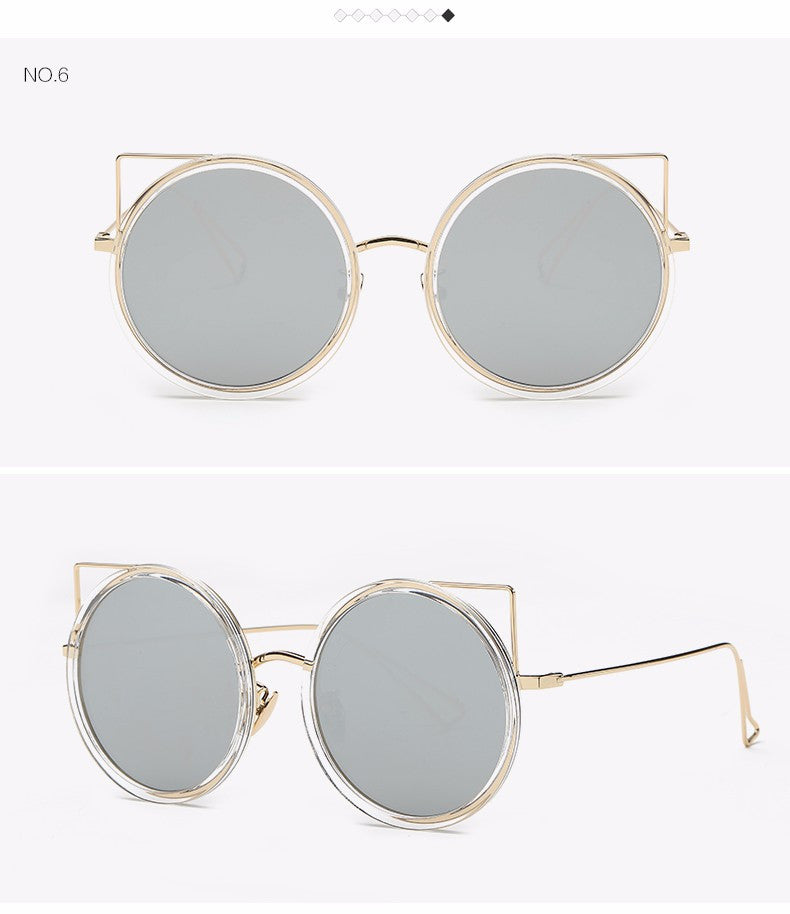 Copper Frame Cat Eye Sun Glasses - The Style Syndrome  - 8