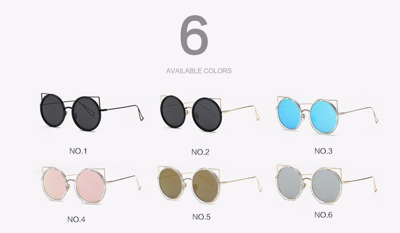 Copper Frame Cat Eye Sun Glasses - The Style Syndrome  - 2