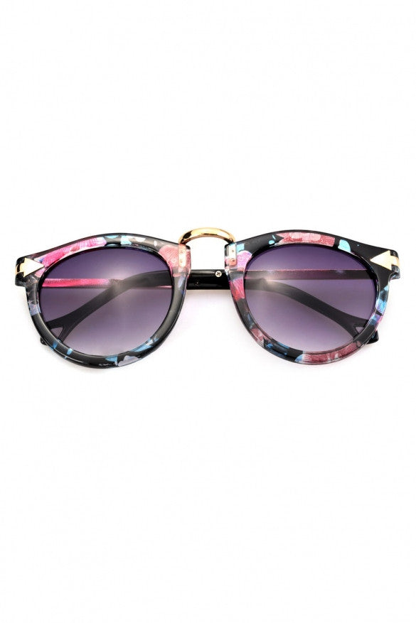 Arrow Floral Sunglasses - The Style Syndrome