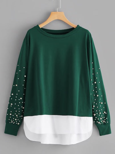 Plus Pearls 2 In 1 Sweatshirt