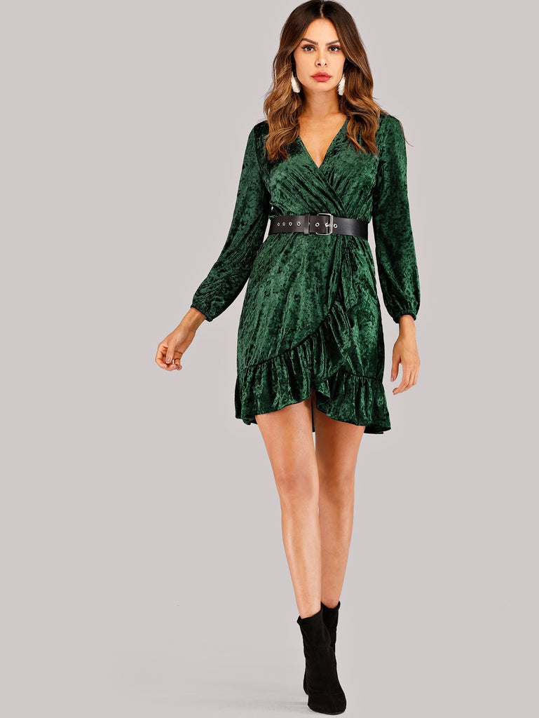 Self Tie Waist Wrap Dress