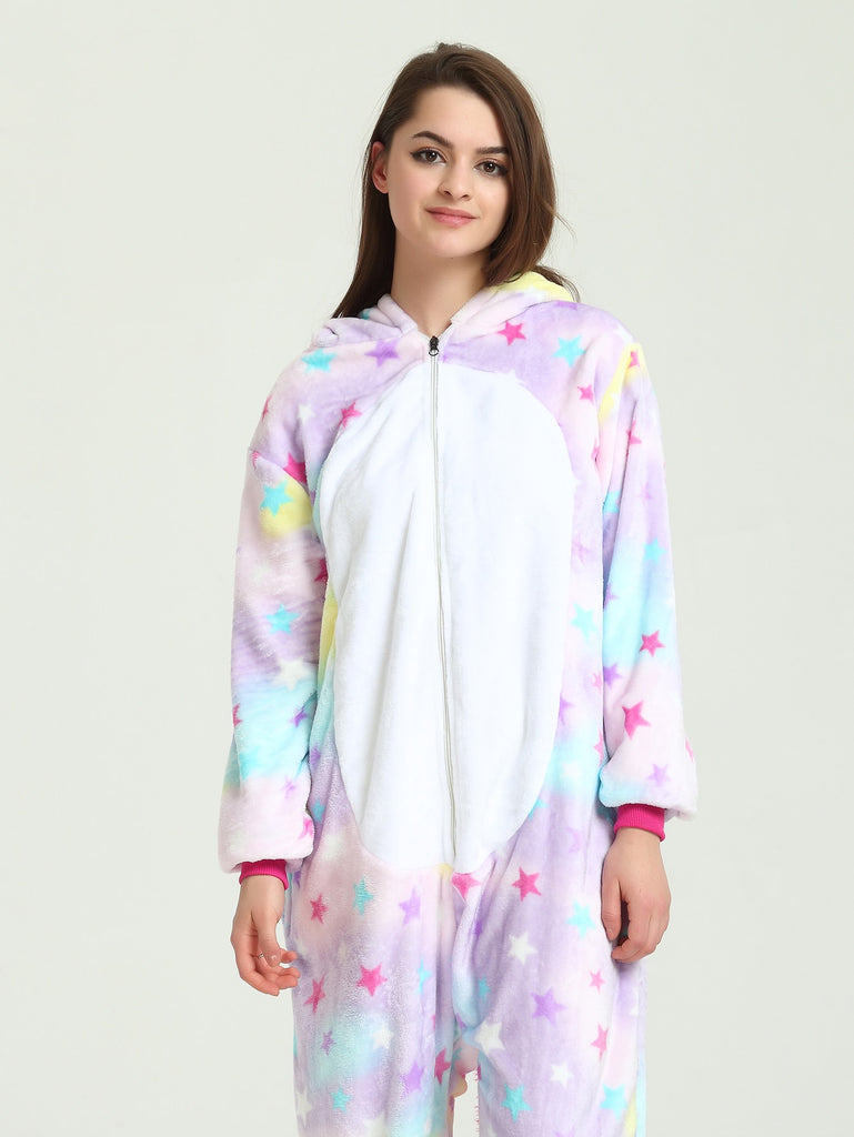 Star Print Unicorn Onesie