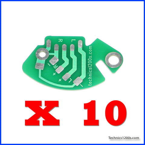 10 x RCA Phono Printed Circuit Board - PCB (Internal Ground Version) - BULK SPECIAL