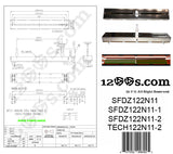 "Pair (2) of MK2 Replacement Pitch Control Slider / Variable Resistor ""SFDZ122N11-2"" (Replaces TECH122N11-2)"