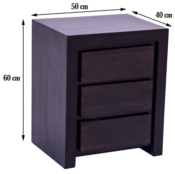 dimensions of the bed side table