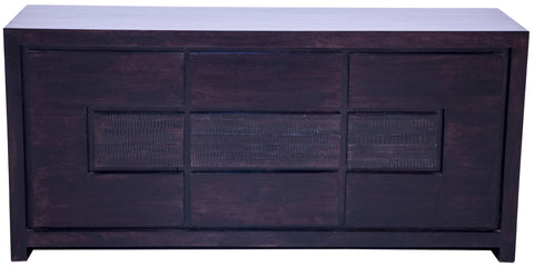 Front view of dark brown buffet