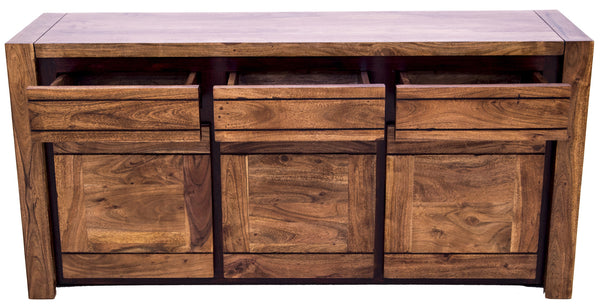 Front view of Sweden Buffet with open drawers